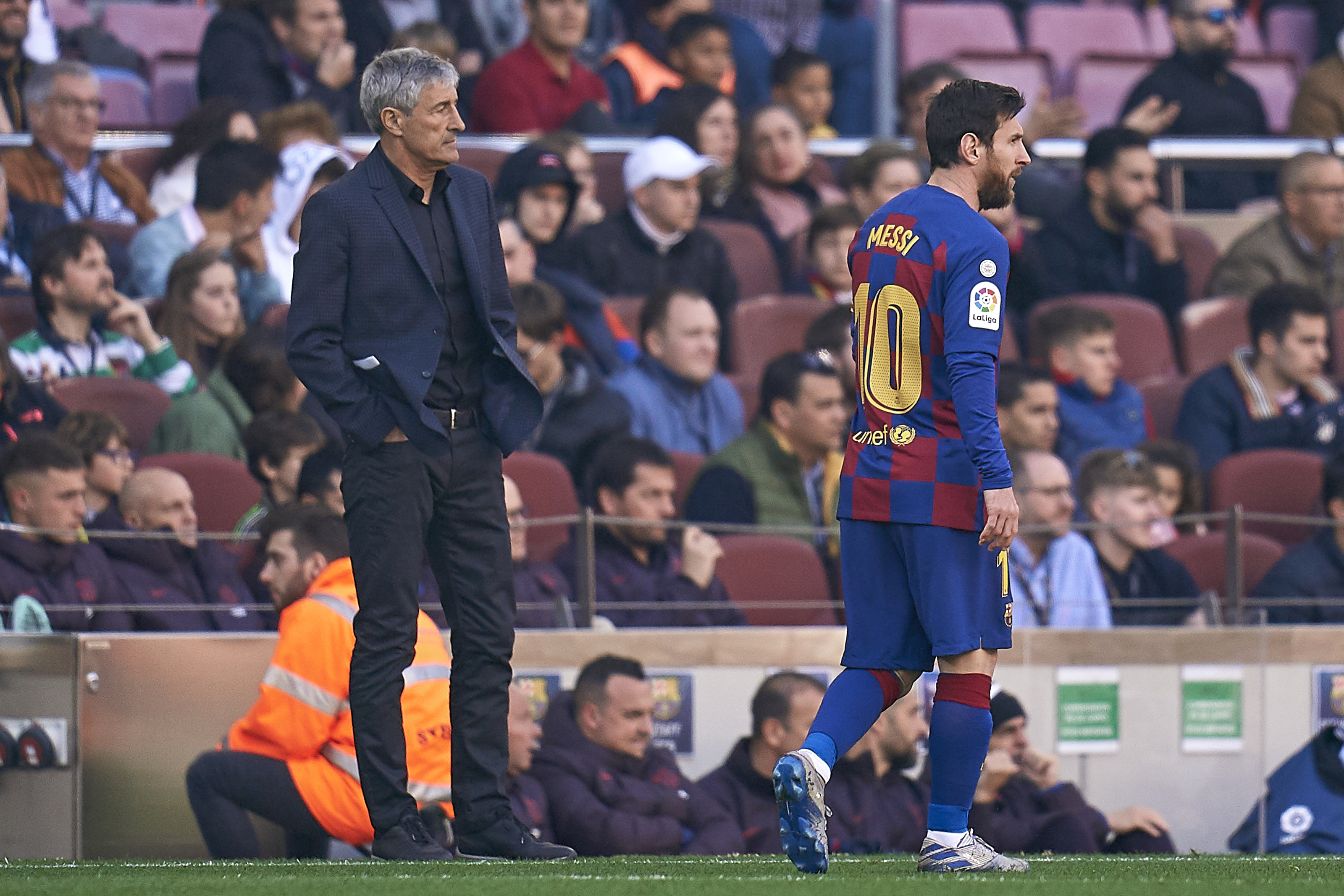 Lionel Messi falls out with Quique Setien and names his new choice